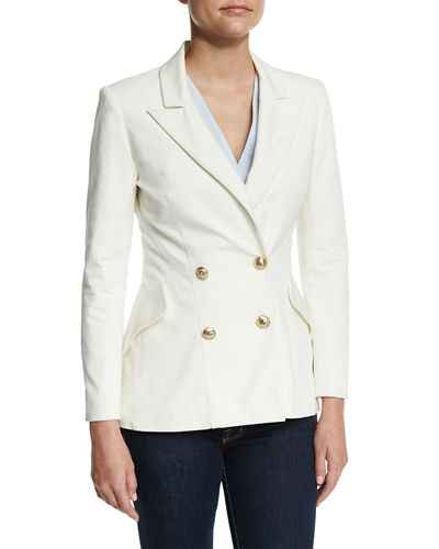 Derek Lam 10 Crosby Double-Breasted Stretch Blazer