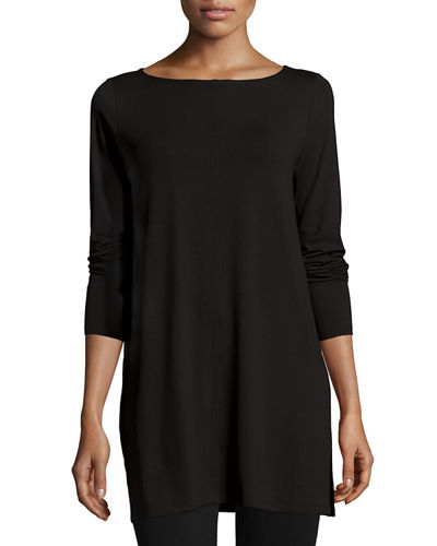 Easy Jersey Tunic with Slits