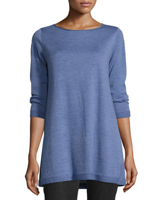 3/4-Sleeve Merino Wool Tunic
