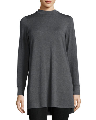 Eileen Fisher Lightweight Mock-Neck Long Tunic