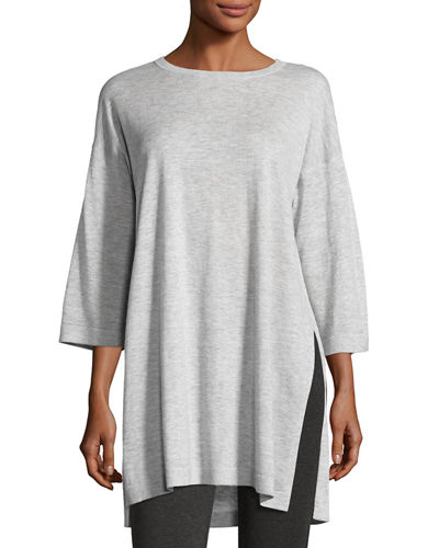 Eileen Fisher Fine Tencel-Alpaca Long Tunic