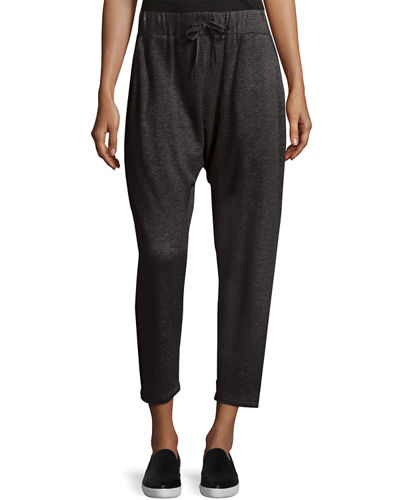 Eileen Fisher Drawstring Slouchy Fleece Pants, Petite