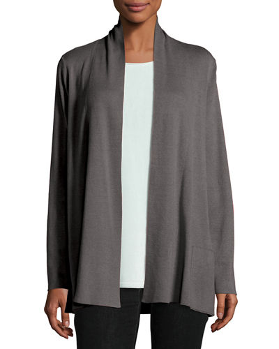 Tencel® Blend Cardigan with Pockets, Plus Size