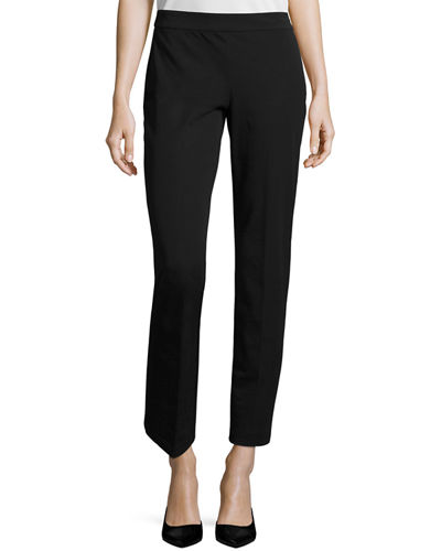 Eileen Fisher Slim Stretch-Twill Trousers