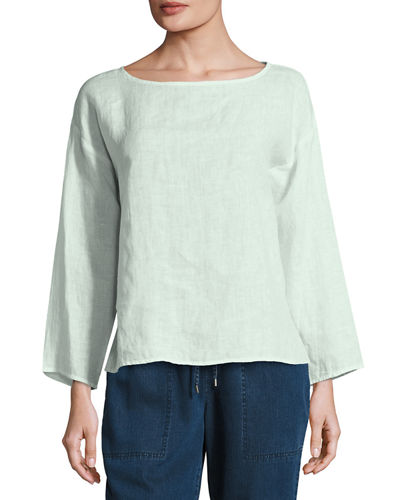 Eileen Fisher Organic Handkerchief Linen Box Top