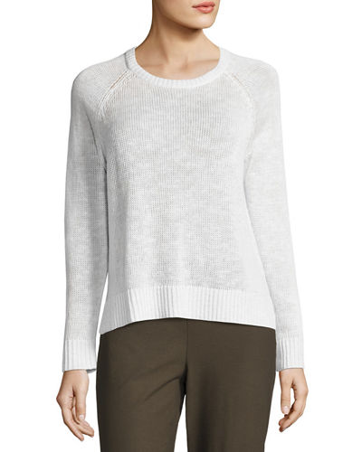 Organic Linen-Cotton Slub Sweater