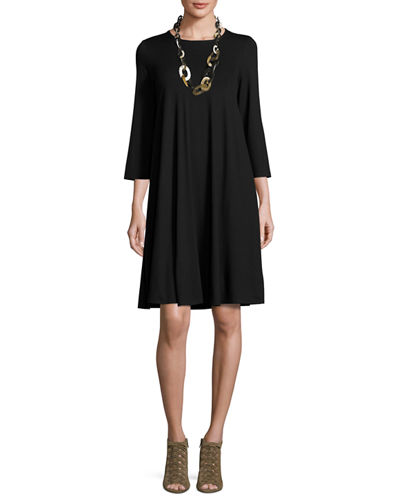 Eileen Fisher Lightweight Jersey Dress w/ Pockets