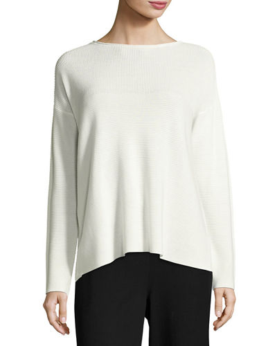 Eileen Fisher Sleek Tencel® Funnel-Neck Top