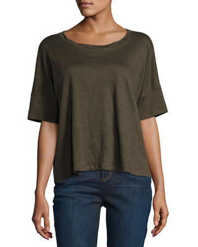 Easy Jersey Button-Front Tunic