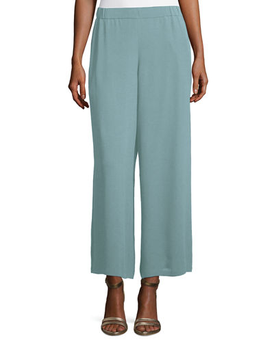 Silk Georgette Wide-Leg Pants