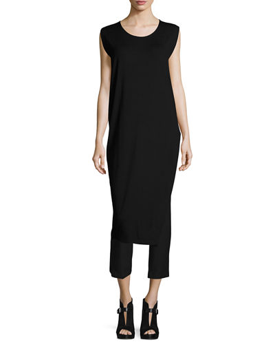 Long Featherweight Jersey Tunic W/ Slit