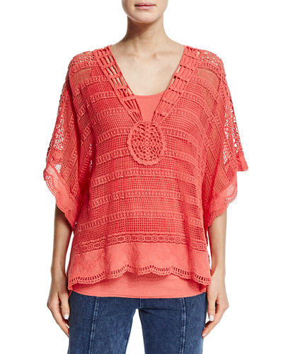 Ara Hacienda Crochet Top