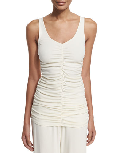 Damia Ruched V-Neck Tank