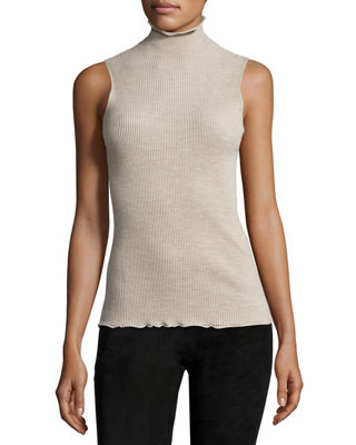 Brianna Stand-Collar Sleeveless Top Best Price