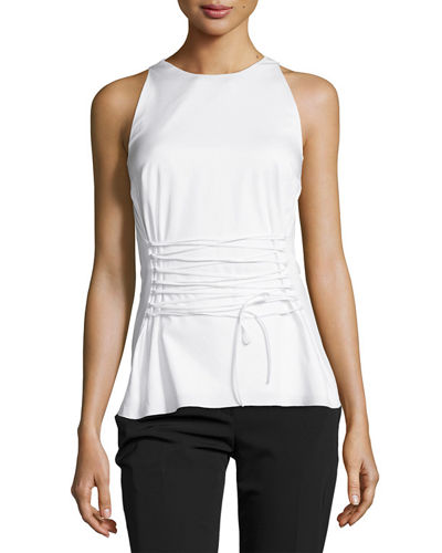Tallo Sleeveless Lace-Up Top