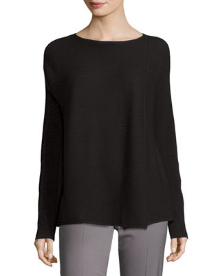Soapstone Asymmetric Fine-Gauge Sweater