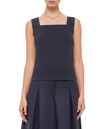 Akris punto Square-Neck Sleeveless Top