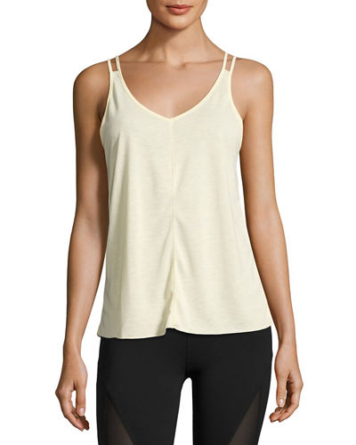 Mold Strappy Cutout Activewear Tank