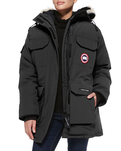 Expedition Fur-Hood Parka, Red