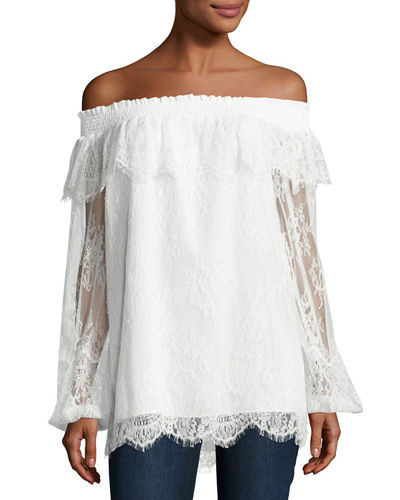 Reese Off-the-Shoulder Lace Blouse