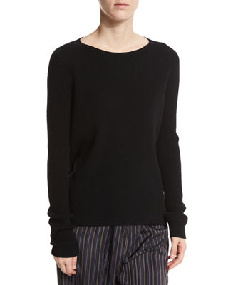 Ribbed Raglan Cashmere Sweater