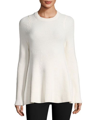 Fluid Wool Pullover Sweater