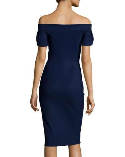 Maelle Off-the-Shoulder Sheath Dress
