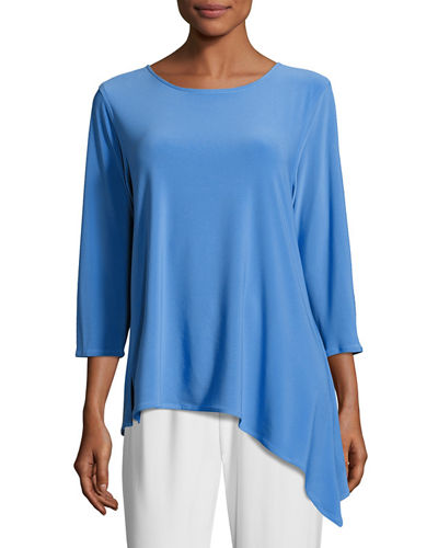 3/4-Sleeve Side Fall Top, Petite