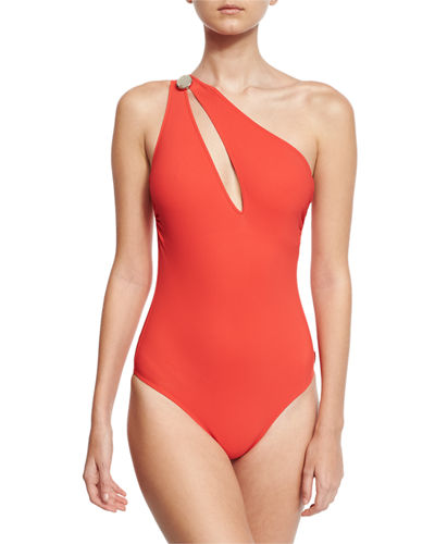 Bright Like A Diamond One-Shoulder Swimsuit