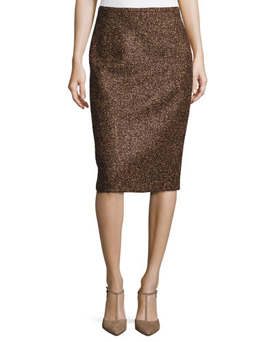 Wool Boucle Tweed Skirt