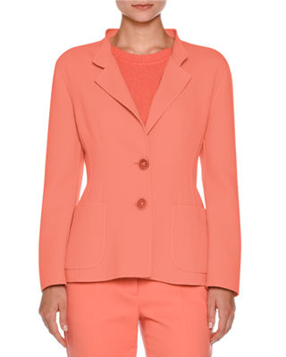 Two-Button Notch-Collar Jacket Onsale