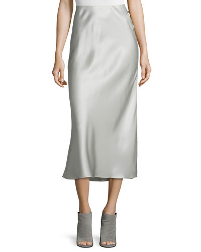 Kristina Silk Slim Midi Skirt