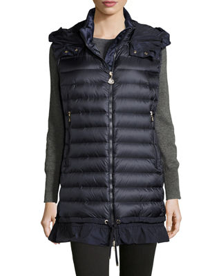Amarante Hooded Quilted Down Gilet