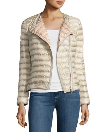 Amy Quilted Collarless Jacket