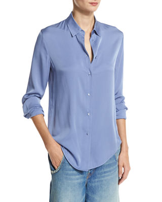 Blue Silk Blouse | Neiman Marcus