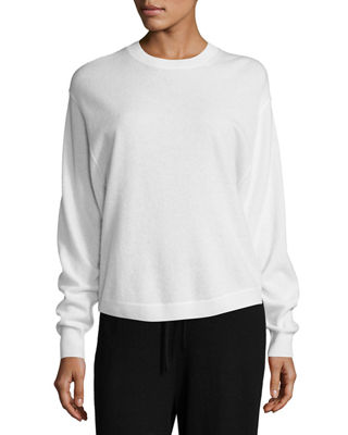 Shirttail Cashmere Crewneck Sweater