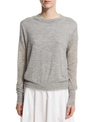 Raw-Edge Cashmere Sweater