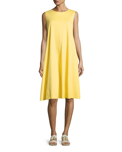 Sleeveless Jersey Trapeze Dress