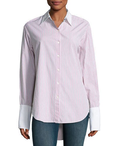 Rag & Bone Essex Striped Shirt with Contrast