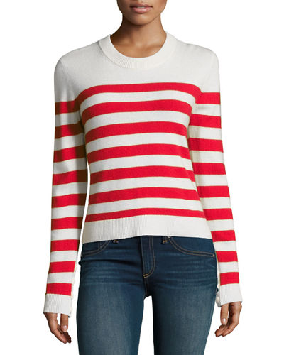 Rag & Bone Lillian Striped Cashmere Crewneck Sweater,