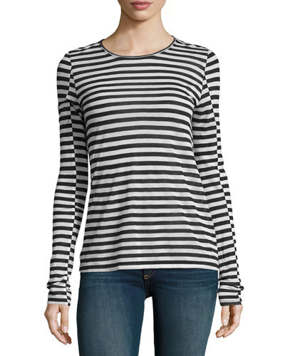 Arrow Striped Long-Sleeve T-Shirt