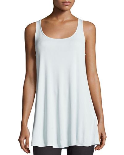 Eileen Fisher Scoop-Neck Stretch Silk Jersey Tunic, Petite