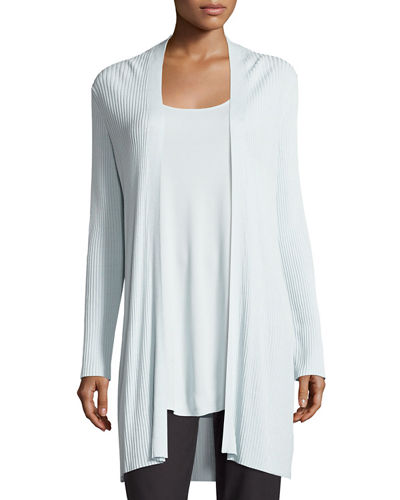 Eileen Fisher Long Sleek Tencel® Ribbed Cardigan