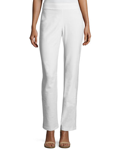 Eileen Fisher Washable Stretch-Crepe Boot-Cut Pants, Plus Size