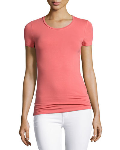 Soft Touch Short-Sleeve Crewneck T-Shirt