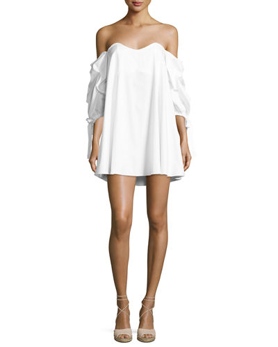 Caroline Constas Gabriella Off-the-Shoulder Bustier Shift Dress