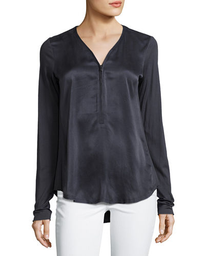 Go Zippy Redux Silky Blouse