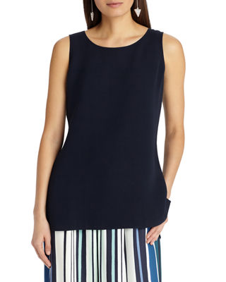 Ruthie Sleeveless High Low Hem Silk Blouse by Lafayette 148 New York