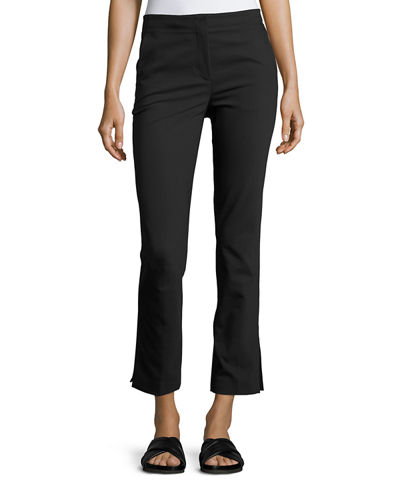 Cropped Stretch Twill Kick Flare Pants