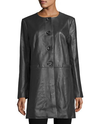 Women's Leather & Faux Leather Coats at Neiman Marcus